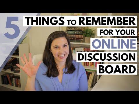 Online Classes - Discussion Board Etiquette - YouTube
