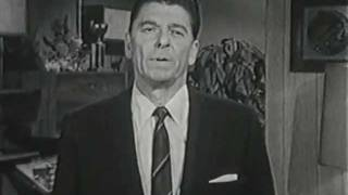Ronald Reagan Announces for Governor