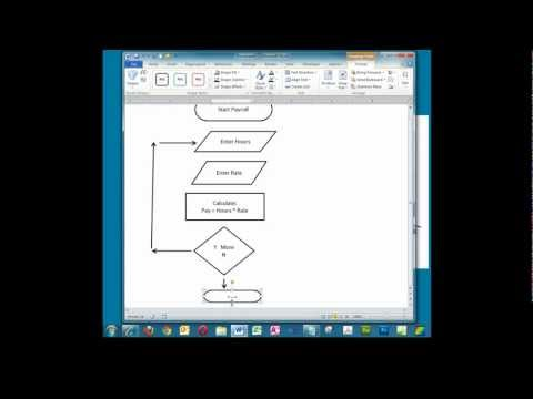 Creating A Simple Flowchart In Microsoft Word. Mp3
