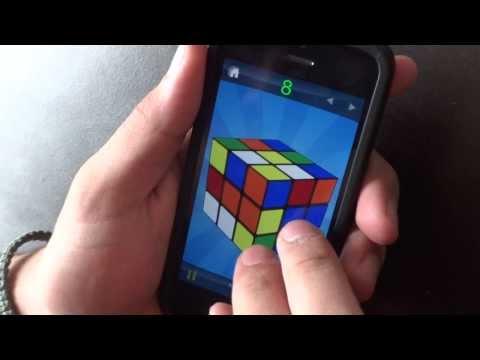 Rubik's Cube App (solve in 32.37)