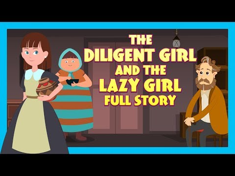 THE DILIGENT GIRL AND THE LAZY GIRL FULL STORY |  TIA AND TOFU STORYTELLING | KIDS HUT