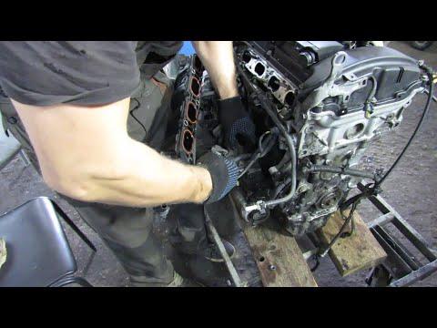 Фото к видео: Как разобрать двигатель. Разбираем EP6 150 л.с. Часть 1