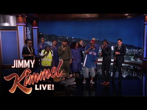 Amazing Jam Session Jimmy Kimmel LIVE feat Trey Sonz, Juicy J, Aloe Blacc