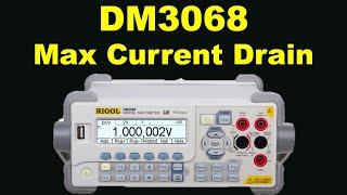 RIGOL DM3068 DMM MultiMeter MAX Current Drain Monitoring Using Math_Stat_Trend