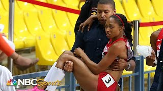 Allyson Felix toppled by injury, Fraser-Pryce, in memorable 2013 200m | NBC Sports