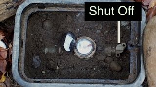 How to turn your water off outside your house.