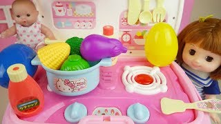 Baby doll and kitchen car toys baby Doli play