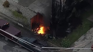 RAW VIDEO: PG&E vault fire knocks out power to San Jose homes
