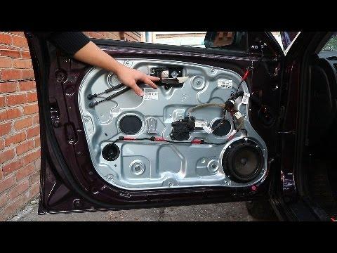 Hyundai Elantra J4 (HD). Замена внутренней ручки двери
