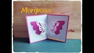 Tarjeta Pop Up Mariposa - DIY - Butterfly Pop Up Card
