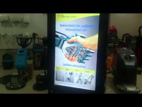 Dijital Totem Ayakkabı Cila Makinası LCD Ekranlı Ürün Reklam Tanıtım Amaçlı Makina