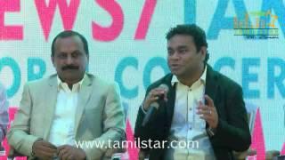 News 7 Tamil Global Concert by AR Rahman Media Meet