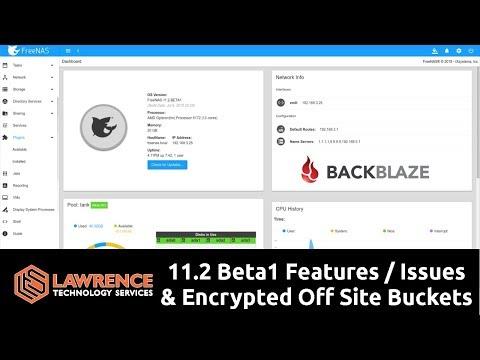 FreeNAS 11.2 Beta1 Mini Review: iocage / iSCSI / plugins / and encrypted BackBlaze Cloud Backup Test