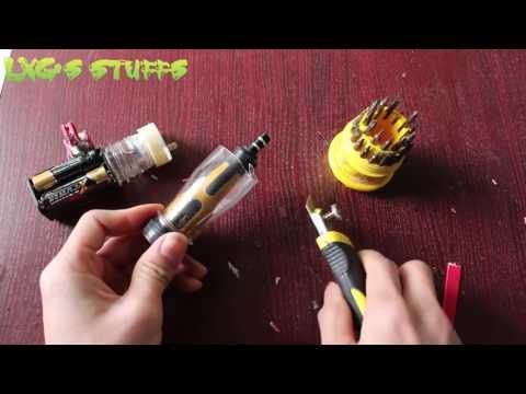 Wie man einen Mini-Elektro-Schrauber machen | Sehr einfaches Werkzeug 2017