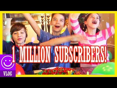 1 MILLION SUBSCRIBERS!!  | SURPRISE YOUTUBER CONGRATULATIONS COLLAB & BALLOON DROP!   KITTIESMAMA