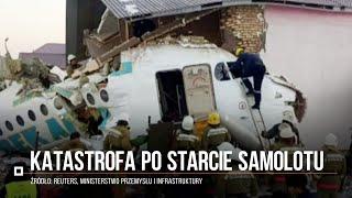 Samolot wbił się w budynek w Kazachstanie