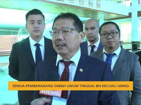 Semua pembangkang Sabah umum tinggal BN kecuali UMNO