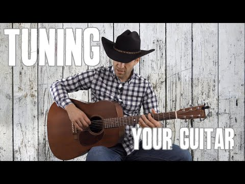 How To Tune Your Guitar - Beginner Guitar Lesson Tutorial