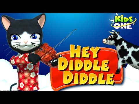 Hey Diddle Diddle Nursery Rhyme | English 3d Animation Rhymes Songs for Children
