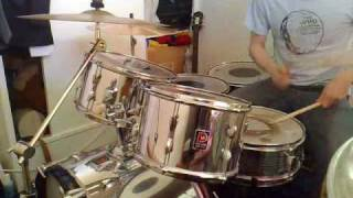 Drumming to the Who's Young Man Blues - Leeds version (Premier kit)