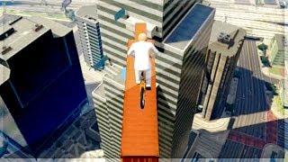 GTA 5 Funny Moments - BMX Skyline Race - (GTA V Online Games Stunts)