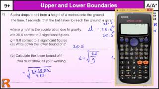 How To Do Upper And Lower Bounds A/A* GCSE Higher Maths Worked Exam Qu Revision, Practice & Help