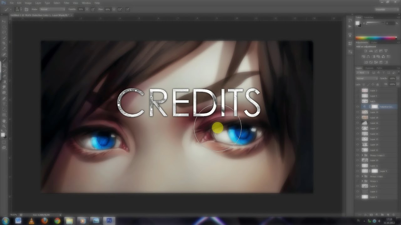 how to paint anime eyes digital painting tutorial