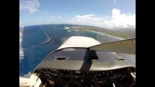preview picture of video 'Touch and Go at Kalaupapa Airport, Molokai Hawaii'