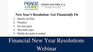Financial New Year Resolutions Webinar