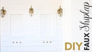 DIY Faux Shiplap Wall - Master Bathroom - Husband Voiceover