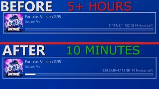 How to INCREASE DOWNLOAD SPEED on PS4 (15x faster)
