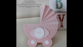 Cute Baby Carriage Card
