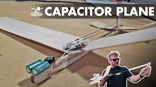 Powered R/C glider without batteries!? | Capacitor plane hack - Video Youtube