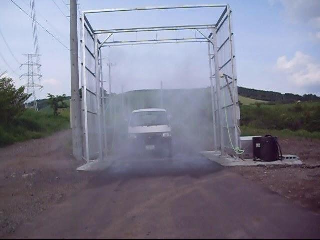 車輌消毒ゲート