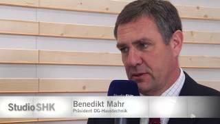 Studio SHK Talk: Benedikt Mahr, Präsident DG Haustechnik, am 10.03.2015, ISH