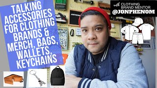 TALKING ACCESSORIES FOR CLOTHING BRANDS & MERCH | BAGS, WALLETS, KEYCHAINS