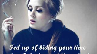 Adele- Tired with lyrics