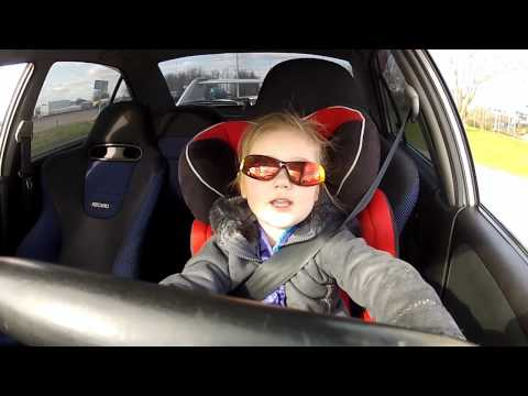 3 Year Old Driving A Mitsubishi Lancer Evo 6 With 320hp MUST SEE!