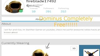 Video How To Get Dominus Hat Free In Roblox Easy Fast Not A Hack