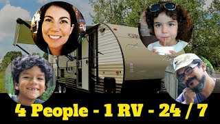 Are we crazy? RV Living with 4 people in a 26ft Travel Trailer!!