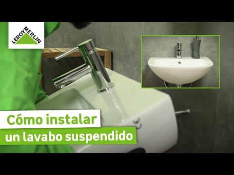 Cómo instalar un lavabo suspendido (Leroy Merlin)