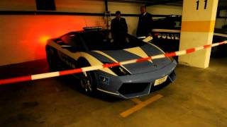 preview picture of video 'Lamborghini Gallardo in security hotelparking Stans-Süd'