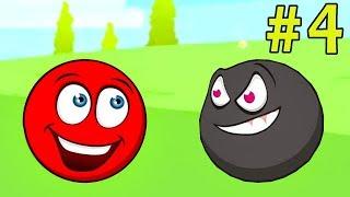 Несносный КРАСНЫЙ ШАР спасает любимую #4. Мультик ИГРА Red Ball 3 на Игрули TV