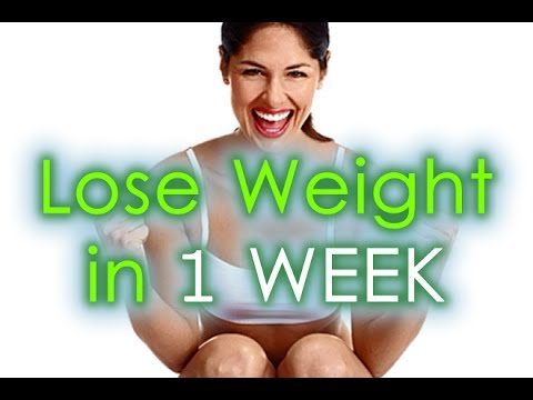 Video How to Lose Weight in A WEEK | Effective Diet to Lose Weight in a Week