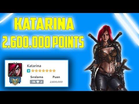 TR KATARİNA 1.cisi 2,600,000 Points | MONTAGE | League of Legends