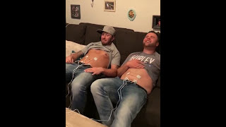 Zach and Colton experiencing labor pains