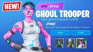 OG PINK GHOUL TROOPER!! New Halloween ITEM SHOP Update!! (Fortnite Battle Royale)