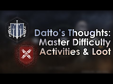 Destiny 2 Shadowkeep: Datto's Thoughts on Master Difficulty Activities & Their Loot