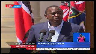 President Kenyatta signs deal with Peugeot Assembly which will also help secure water provision
