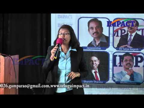 Enterprenuer | Sruti Mashru | TELUGU IMPACT Hyd Mar 2016